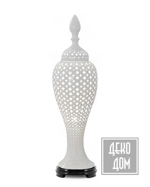 ABHIKA | Настольная лампа Ming Cross (арт.500247-Wh) фото | ✆ +38(067)3-999-700 | Цена в Украине | Оригинальный декор для дома |