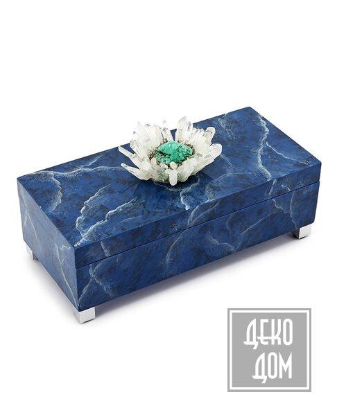 ABHIKA | Шкатулка Krizia Blue (арт.600557-80) фото | ✆ +38(067)3-999-700 | Цена в Украине | Оригинальный декор для дома |