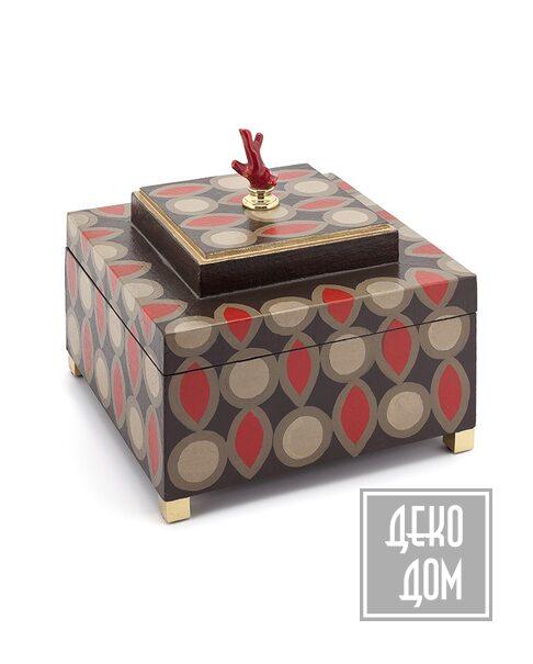 ABHIKA   Шкатулка Krizia 70`S (арт.600579-37) фото   ✆ +38(067)3-999-700   Цена в Украине   Оригинальный декор для дома  