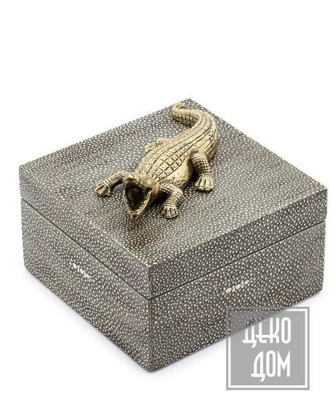 ABHIKA | Шкатулка Krizia Croco (арт.600749) фото | ✆ +38(067)3-999-700 | Цена в Украине | Оригинальный декор для дома |