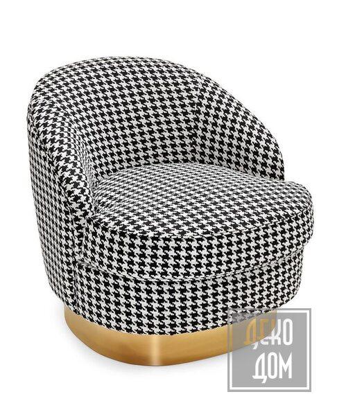 ABHIKA | Вращающееся кресло Round (арт.706057-BW) фото | ✆ +38(067)3-999-700 | Цена в Украине | Оригинальный декор для дома |