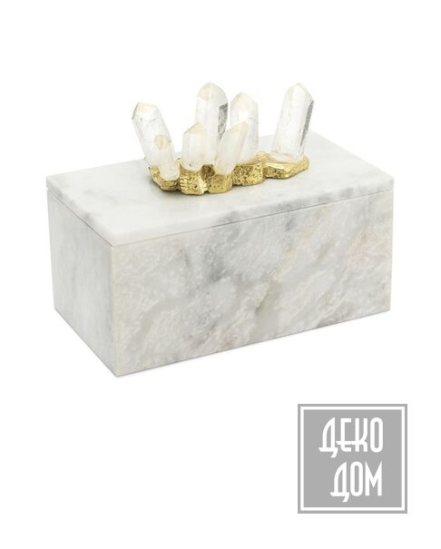 ABHIKA | Шкатулка Lixus Marble H10cm (арт.600947-10) фото | ✆ +38(067)3-999-700 | Цена в Украине | Оригинальный декор для дома |