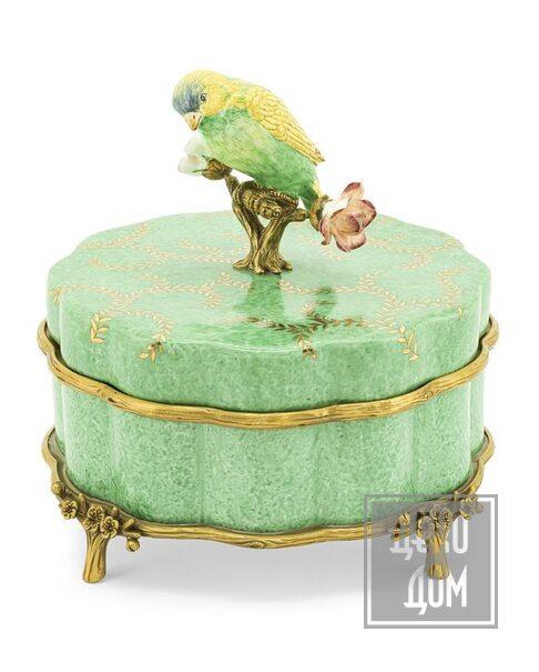 ABHIKA | Шкатулка Atlanta Bird Ø19cm (арт.600955-70) фото | ✆ +38(067)3-999-700 | Цена в Украине | Оригинальный декор для дома |
