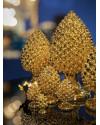 ABHIKA | Настольный декор Pine Cone Real Gold H50cm (арт.600962-01) фото | ✆ +38(067)3-999-700 | Цена в Украине | Оригинальный декор для дома |