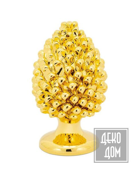 ABHIKA   Настольный декор Pine Cone Real Gold H30cm (арт.600960-01) фото   ✆ +38(067)3-999-700   Цена в Украине   Оригинальный декор для дома  