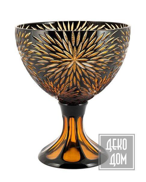 ABHIKA | Ваза Cup Crystal Blaze H28cm (арт.201124-D5) фото | ✆ +38(067)3-999-700 | Цена в Украине | Оригинальный декор для дома |