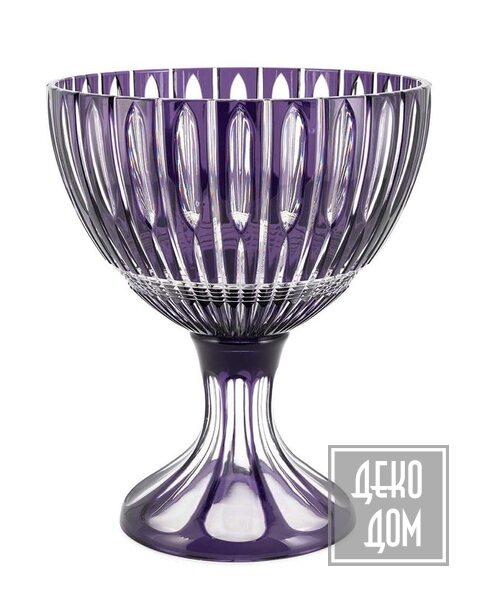 ABHIKA | Ваза Cup Crystal Plume H28cm (арт.201128-D7) фото | ✆ +38(067)3-999-700 | Цена в Украине | Оригинальный декор для дома |