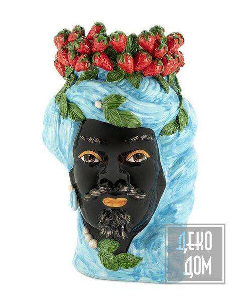 ABHIKA   Ваза Strawberries Head Man Big (арт.201214-82) фото   ✆ +38(067)3-999-700   Цена в Украине   Оригинальный декор для дома  