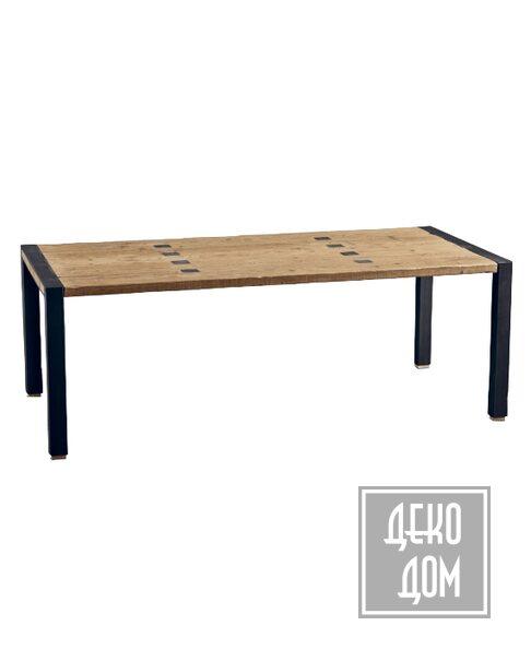 Dialma Brown | Обеденный стол DB003740 (220x100cm) фото | ✆ +38(067)3-999-700 | Цена в Украине | Оригинальный декор для дома |
