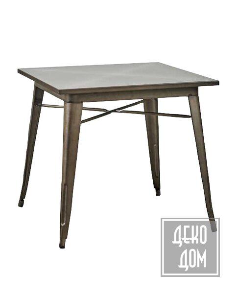 Dialma Brown | Обеденный стол DB005318 (80x80cm) фото | ✆ +38(067)3-999-700 | Цена в Украине | Оригинальный декор для дома |