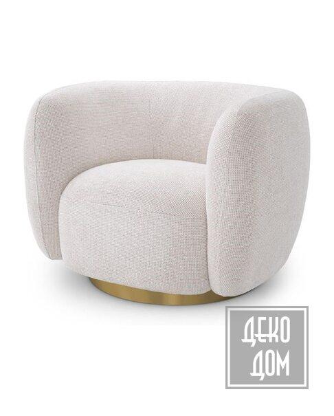 Eichholtz   Вращающееся кресло Roxy (арт.115348) фото   ✆ +38(067)3-999-700   Цена в Украине   Оригинальный декор для дома  