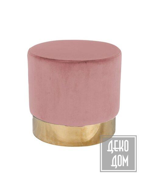 DecoDom | Пуф Lilou Pink Ø42cm (арт.S4427) фото | ✆ +38(067)3-999-700 | Цена в Украине | Оригинальный декор для дома |