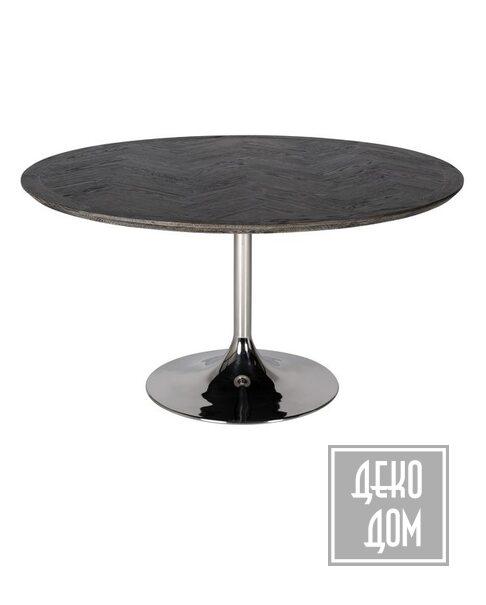 DecoDom | Обеденный стол Blackbone Silver Ø140cm (арт.7411) фото | ✆ +38(067)3-999-700 | Цена в Украине | Оригинальный декор для дома |