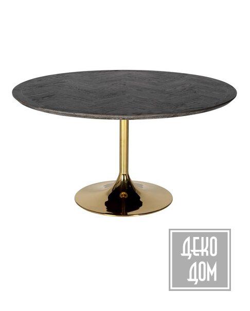 DecoDom | Обеденный стол Blackbone Gold Ø140cm (арт.7441) фото | ✆ +38(067)3-999-700 | Цена в Украине | Оригинальный декор для дома |