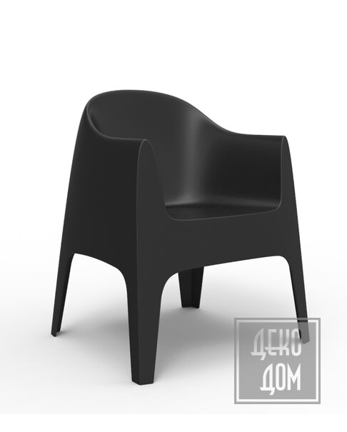 Vondom   Кресло Solid (арт.55027-Neg) фото   ✆ +38(067)3-999-700   Цена в Украине   Оригинальный декор для дома  