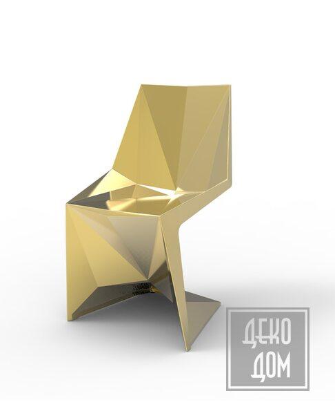 Vondom | Стул Voxel (арт.51033F-Oro) фото | ✆ +38(067)3-999-700 | Цена в Украине | Оригинальный декор для дома |
