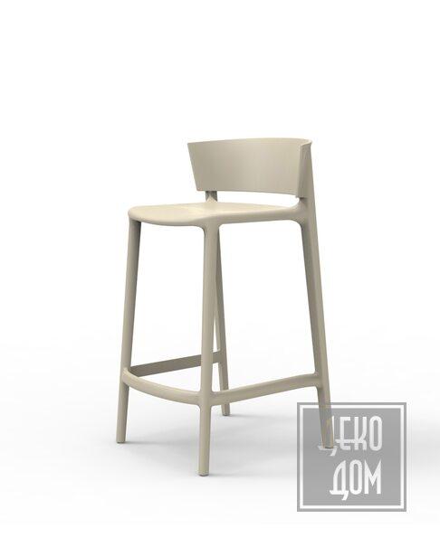 Vondom | Полубарный стул Africa (арт.65030-Ecr) фото | ✆ +38(067)3-999-700 | Цена в Украине | Оригинальный декор для дома |