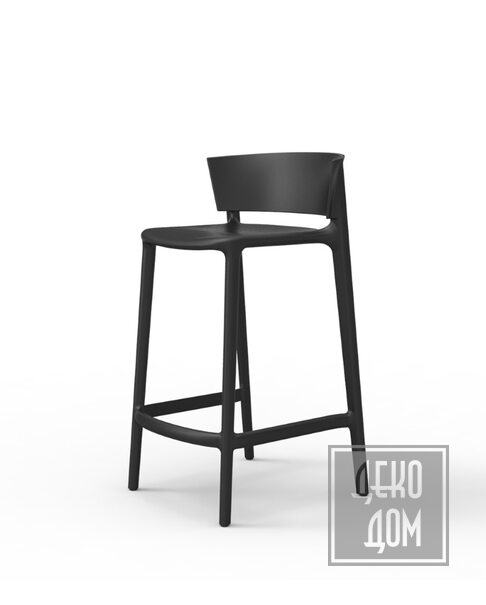 Vondom   Полубарный стул Africa (арт.65030-Ner) фото   ✆ +38(067)3-999-700   Цена в Украине   Оригинальный декор для дома  